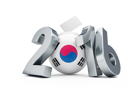 parliamentary: Parliamentary elections in South Korea 3d Illustrations on a white background