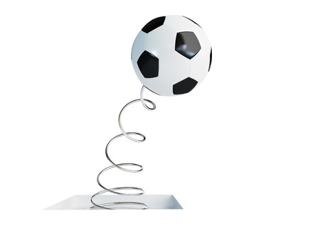 3d ball: spring soccer ball 3d Illustrations on a white background Stock Photo