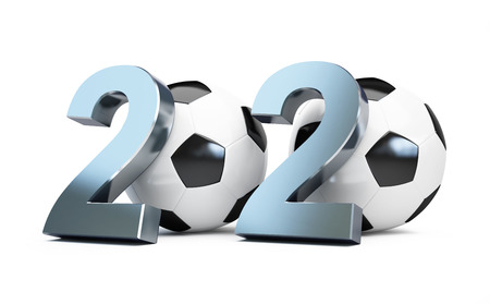 scores: football 2020. 3d Illustrations on a white background Stock Photo