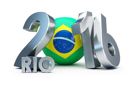 team game: Summer Games in Rio de Janeiro, Brazil,Rio 2016 Football. 3d Illustrations
