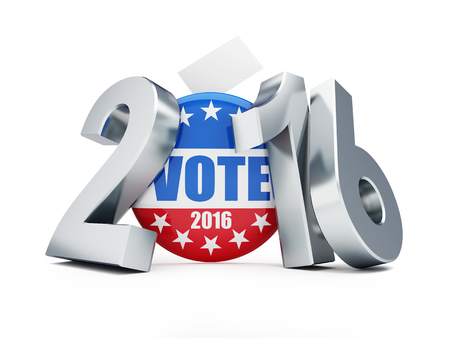 senate: presidential election USA in 2016 white background 3D illustration Stock Photo