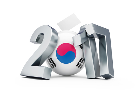 presidency: Presidential elections in the Republic of Korea in 2017. 3D illustration