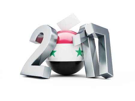 presidential election: Syrian presidential election 2017 3d Illustrations on a white background