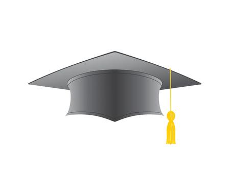 Graduation cap isolated on a white background illustration