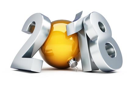 해피 뉴가 어 2018 3d 삽화