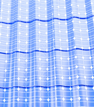 Roof solar panels  on a white background 3D illustration Stock Photo