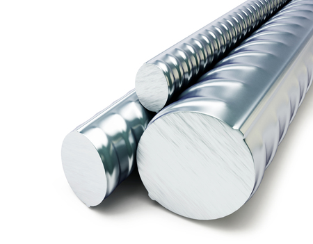 steadiness: Rolled metal products  on a white background 3D illustration