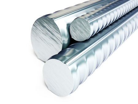 lasting: Rolled metal products  on a white background 3D illustration