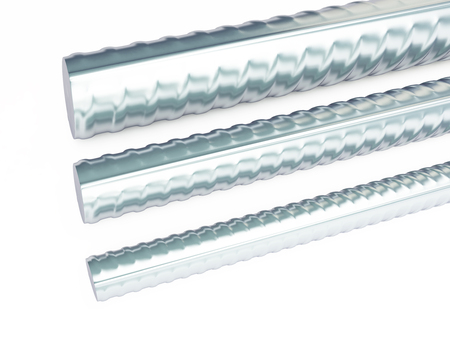 reinforcing steel. 3d Illustrations on a white background, 3D rendering Stock Photo