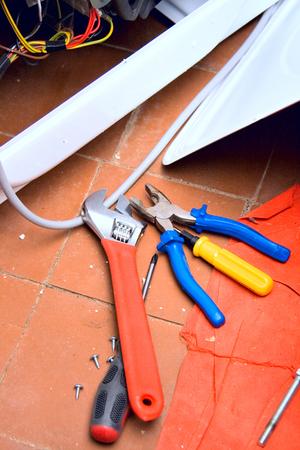 alicates: Ashing machine Conjunto de herramientas de plomería