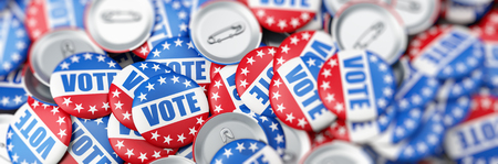 vote election on a white background 3D illustration, 3D rendering Stock Photo