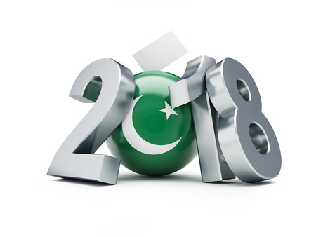 elections in Pakistan 2018 on a white background 3D illustration, 3D rendering Stock Photo