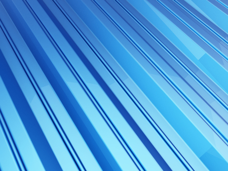 Roof metal sheet blue background. 3d Illustrations Stock Photo
