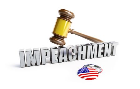 law impeachment of the USA president on a white background 3D illustration, 3D rendering Stock fotó