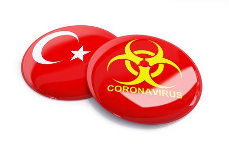 coronavirus in Turkey on a white background