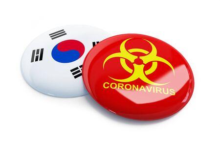 Coronavirus South Korea on a white background
