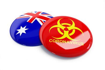 coronavirus in Australia on a white background