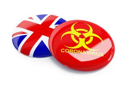 coronavirus in England, UK on a white background