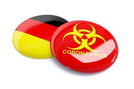 coronavirus in Germany on a white background