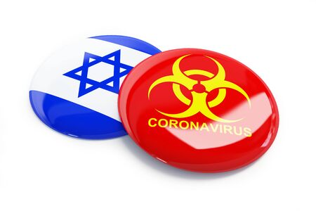coronavirus in Israel on a white background