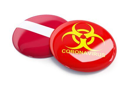 Coronavirus in Latvia on a white background 3D illustration, 3D rendering Zdjęcie Seryjne