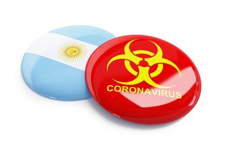 coronavirus in Argentina on a white background 3D illustration, 3D rendering