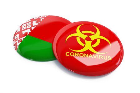 Coronavirus in Belarus on a white background 3D illustration, 3D rendering
