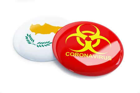 Coronavirus in Cyprus  on a white background 3D illustration, 3D rendering