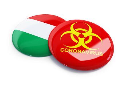 Coronavirus in Vengriya on a white background 3D illustration, 3D rendering