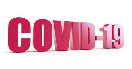 Covid-19 on a white background 3D illustration, 3D rendering Zdjęcie Seryjne