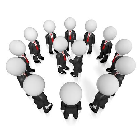 3D businessmen/ handshake/ agreement concept