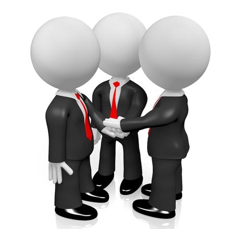 3D teamwork  cooperation concept