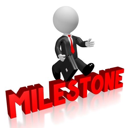 conquering adversity: 3D milestone concept