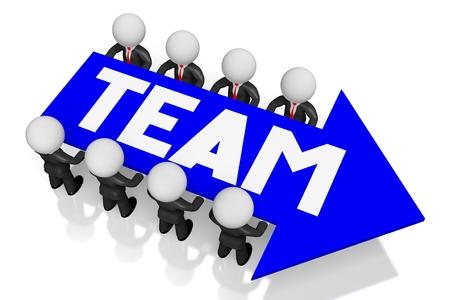 Team 3D  teamwork concept