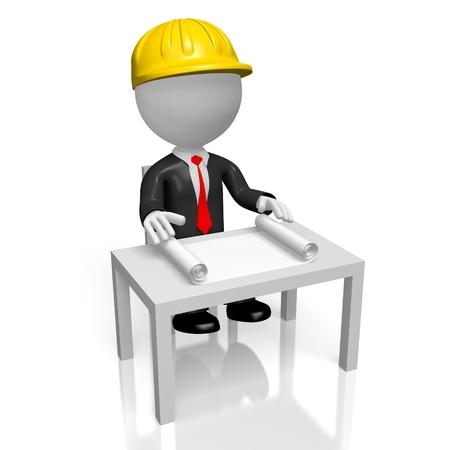 3D architect, construction company concept