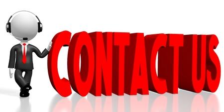 3D contact us concept