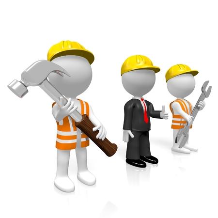 3D construction company concept