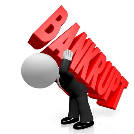 bankrupt: 3D bankrupt concept