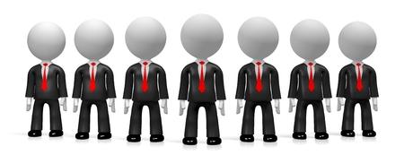 3D businessmen concept Stock Photo