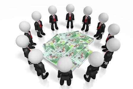 3D polish money concept