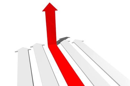 3D success concept, arrows