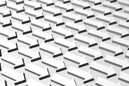 3D pijlenconcept - richting Stockfoto