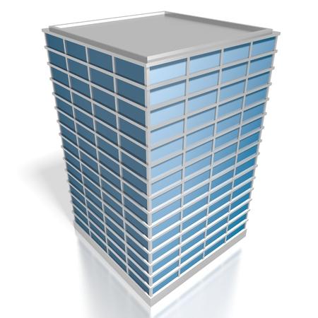 3D modern office building