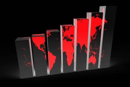 3D global business concept