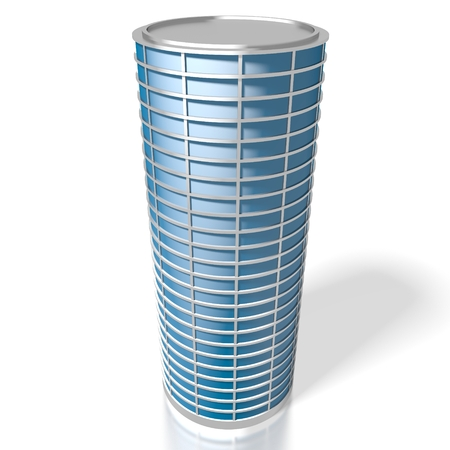 3D round office building Stock fotó