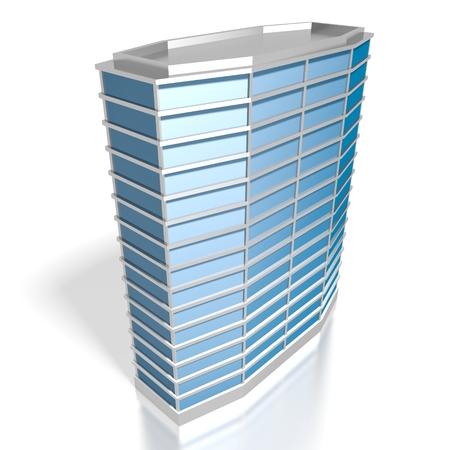 3 D の近代的なオフィスビル 写真素材