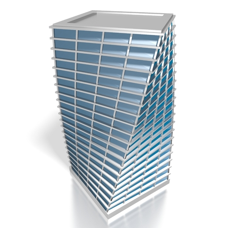 3D twisted office building