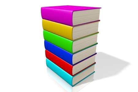 multiple: 3D colorful books Stock Photo