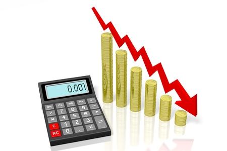 Calculator, crisis concept Stock Photo