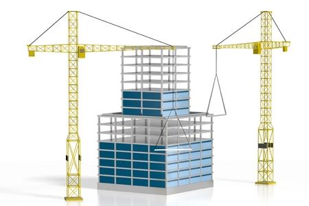 3D office building - construction site